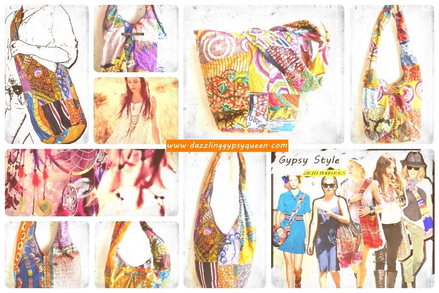 Gypsy Boho Hippy Patchwork bags by DazzlingGypsyQueen