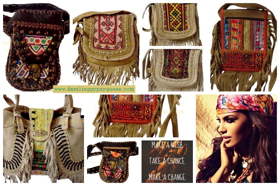 Nieuwe Gypsy Boho Ibiza tassen bij Dazzling Gypsy Queen