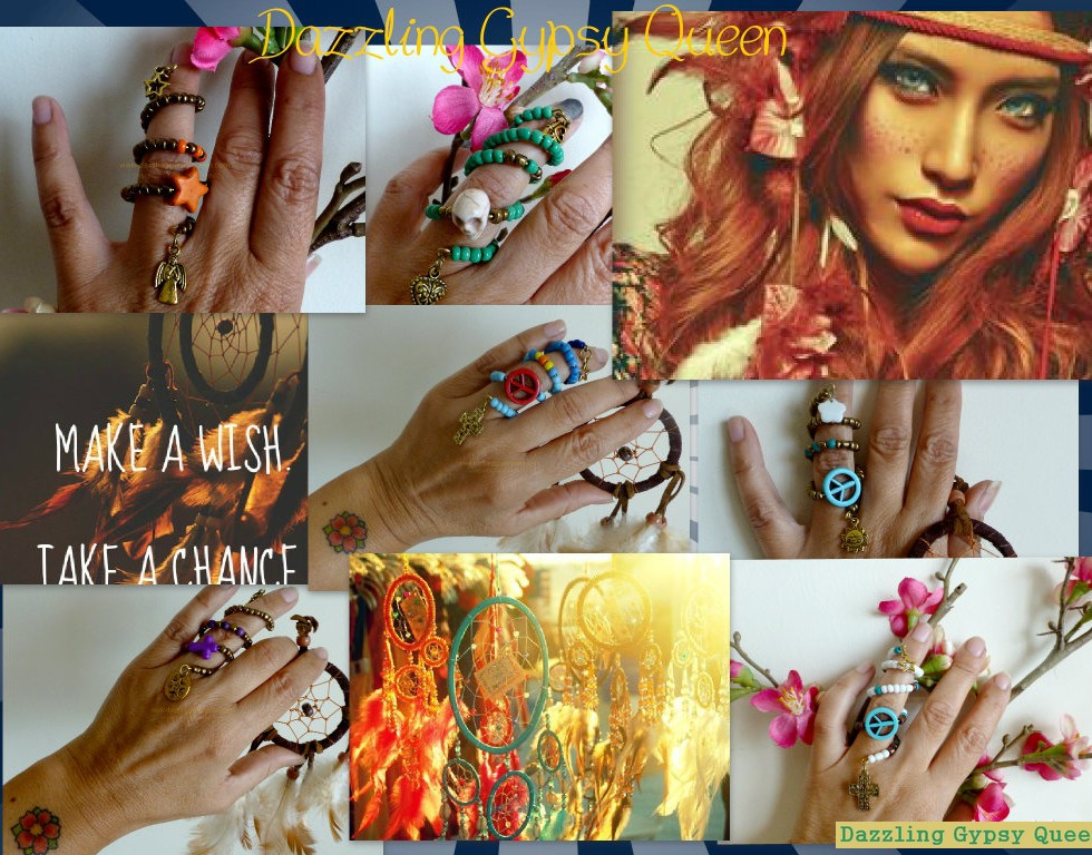 Gypsy Ibiza boho Knuckle ring - Dazzling Gypsy Queen