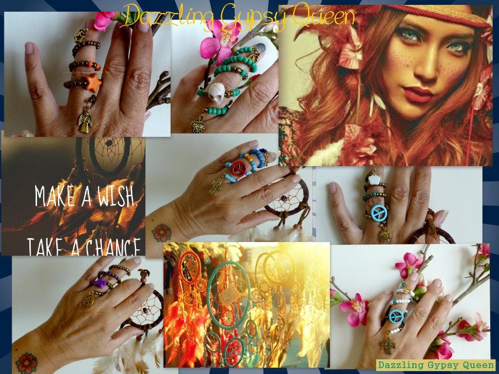 Gypsy Ibiza boho Knuckle ring - Dazzling Gypsy Queen