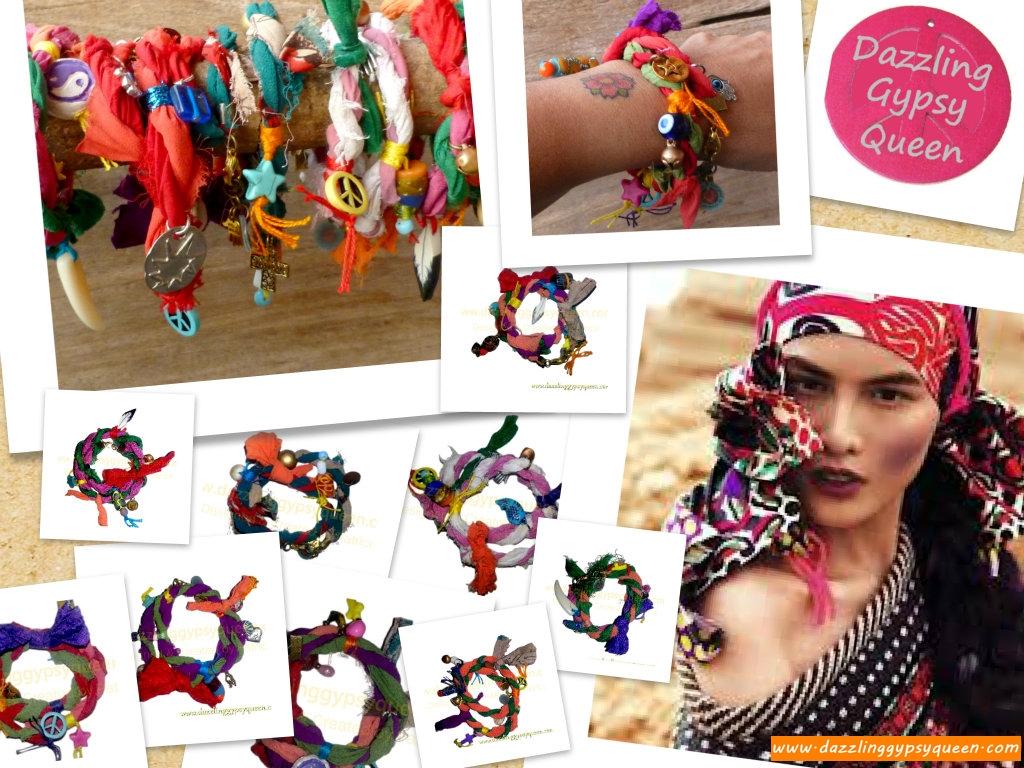 Gypsy Ibiza wrap bracelet - Dazzling Gypsy Queen