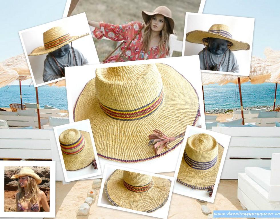 Ibiza-Style Gypsy cowgirl beach hat by DazzlingGypsyQueen