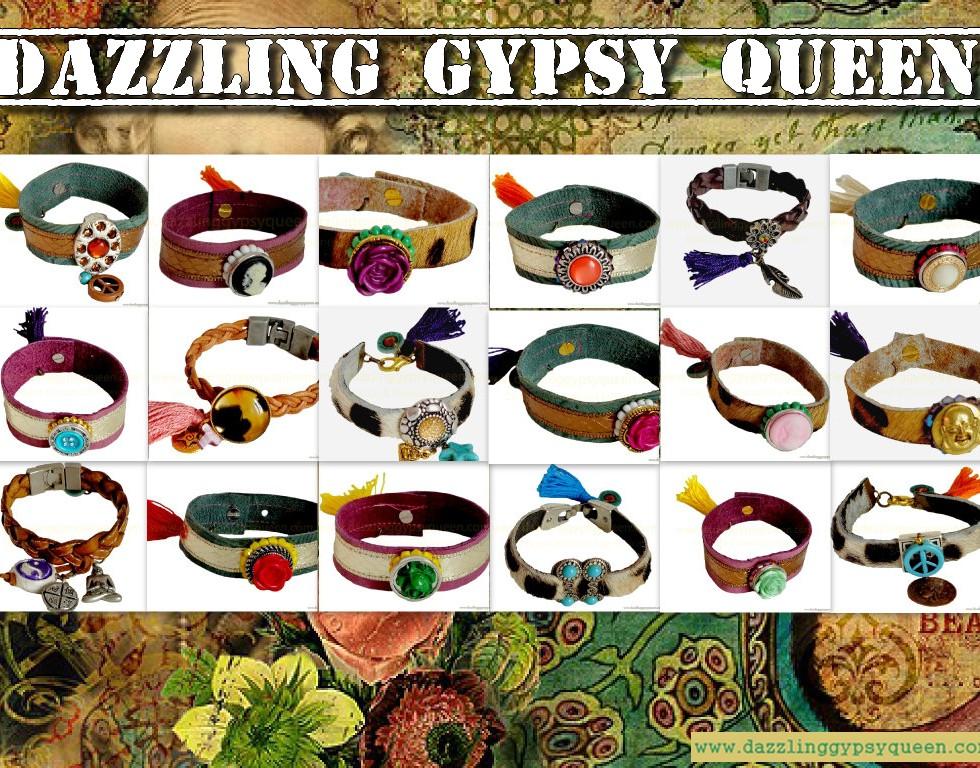Gypsy Ibiza leather bracelets by DazzlingGypsyQueen