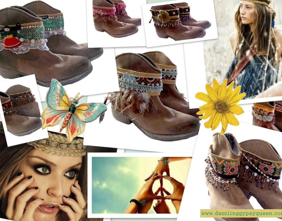Gysy Boho cowgirl leather bootcuffs