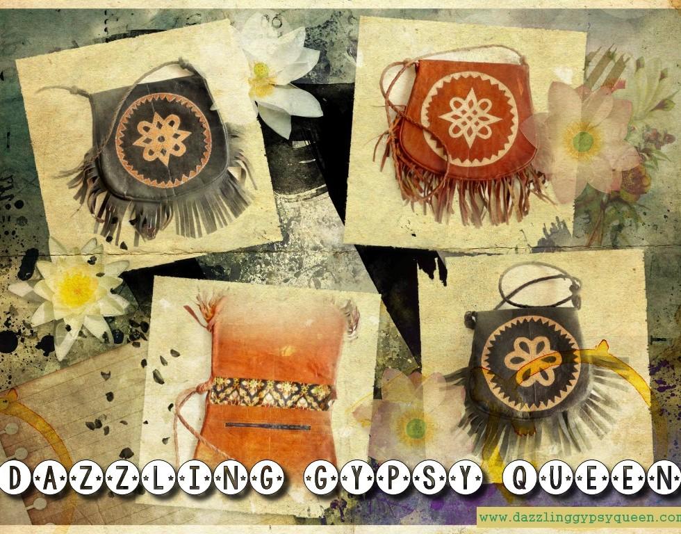 Vintage leather Boho festivalbag