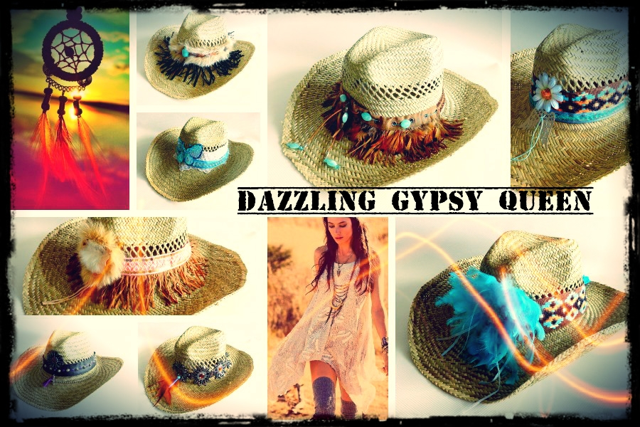 Gypsy Ibiza Beach Cowboy Hat - Dazzling Gypsy Queen