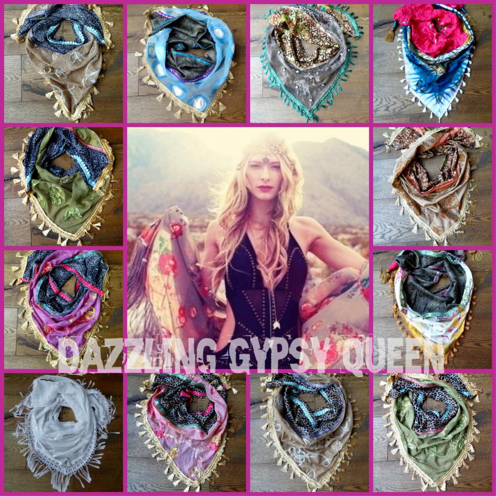 Gypsy Ibiza Triangle Shawls - by Dazzling Gypsy Queen