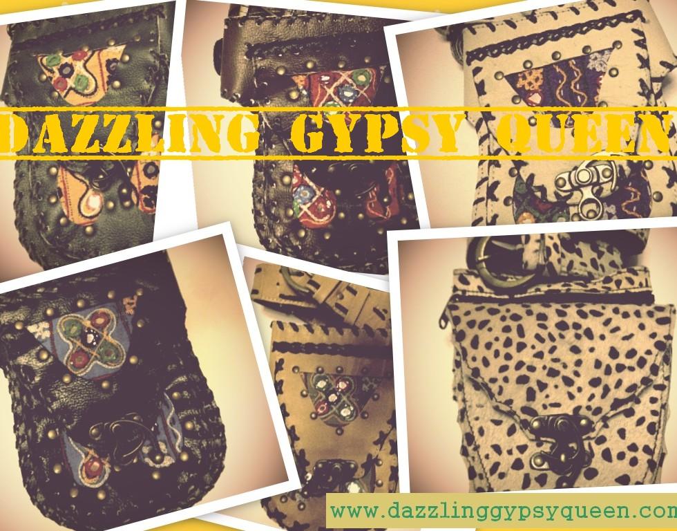Gypsy Boho Ibiza festival heuptasje leather & banjara @ Dazzling Gypsy Queen
