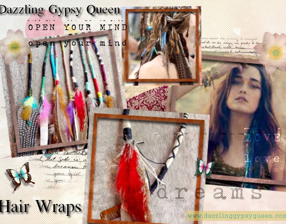 Gypsy feather hairwrap - veer hairextension - Dazzling Gypsy Queen