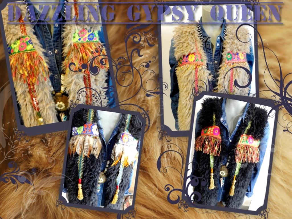 Gypsy bont Gilet bodywarmer by Dazzling Gypsy Queen