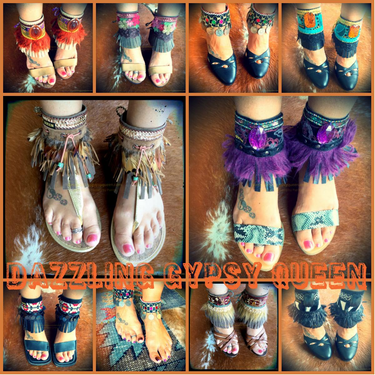 Gypsy Boho Ankle Cuffs - Ankle Belts - Sandal Cuffs - by Dazzling Gypsy Queen