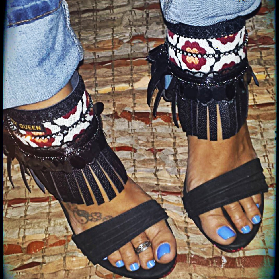 le Cuffs - Ankle Belts - Sandal Cuffs - by Dazzling Gypsy Queen - by Patrice