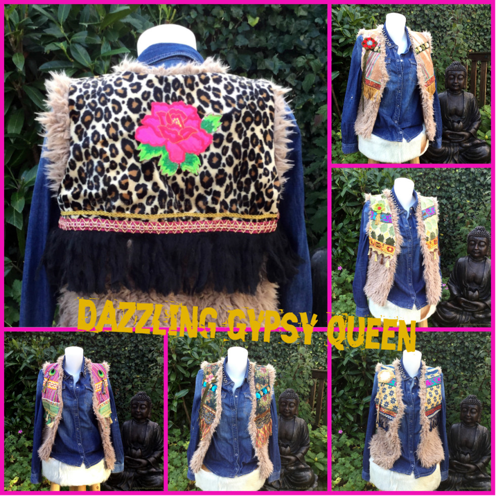 Gypsy Ibiza bodywarmer van bont by Dazzling Gypsy Queen